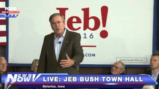 FNN: FULL Jeb Bush Town Hall Event - Waterloo, IA