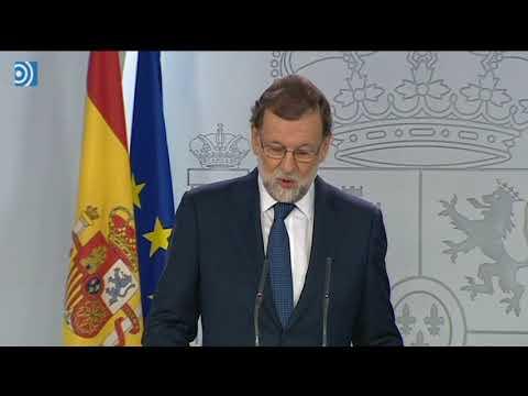 Rajoy pregunta a Puigdemont si ha declarado la independencia de Cataluña