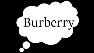 How To Pronounce Burberry