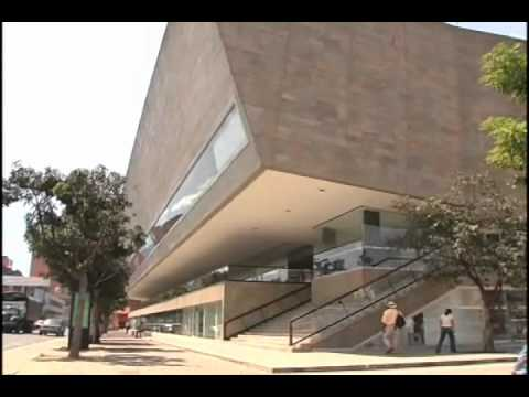 Arquitectura de la biblioteca epm youtube for Biblioteca arquitectura