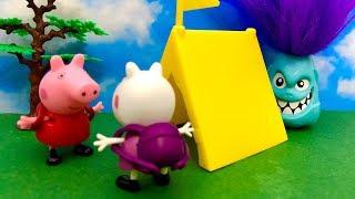 Świnka Peppa i Monster ♦ Biwak razem z Suzy Owca ♦ Bajka dla dzieci PO POLSKU