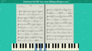 Kalank (Title Track) Western Piano Staff Notations + Chords   Tutorial