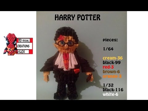 How To Make 3d Origami Harry Potter Tutorial Diy 3d Origami Harry