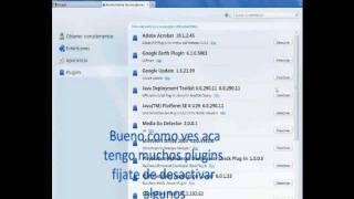 Como desactivar Plugins en Mozilla FireFox