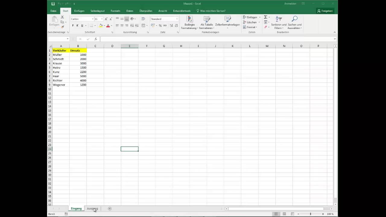 Daten mit VBA filtern und kopieren - YouTube