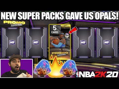 NEW *GUARANTEED* SUPER PACKS WERE JUICED WITH GALAXY OPALS AND GEMS IN NBA 2K20 MYTEAM PACK OPENING