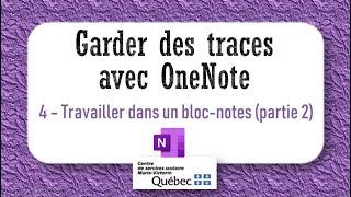4- Travailler dans un bloc-notes (partie 2)