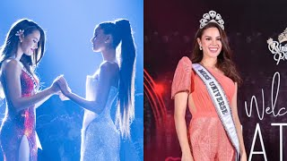 Catriona Gray reveals what she and Tamaryn Green were saying to each other during the Top 2 moment