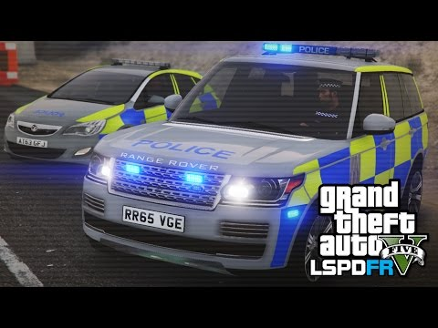 Police Range Rover forest patrol - GTA 5 LSPDFR - The British way #51