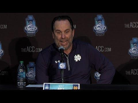Post Game Press Conference | @NDMBB vs Virginia Tech ACC Tournament 2018