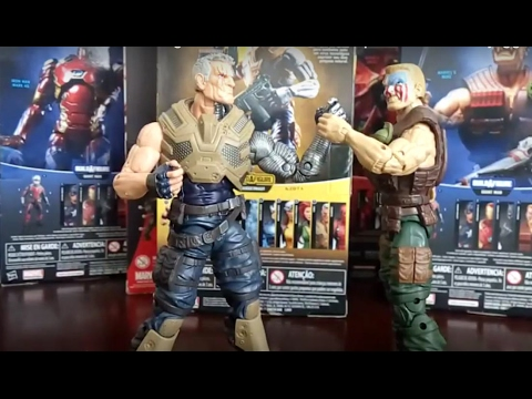 Cable vs Nuke Marvel Legends. Revision review español latino. Baf juggernaut. Baf Giant man