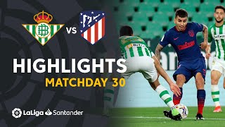 Highlights Real Betis vs Atlético de Madrid (1-1)