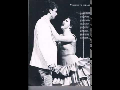 """Hans van der Woude & Cilly Dartel (live) """"Verliefd op elkaar"""", musical """"De dader...""""Bonustrack.1986."""