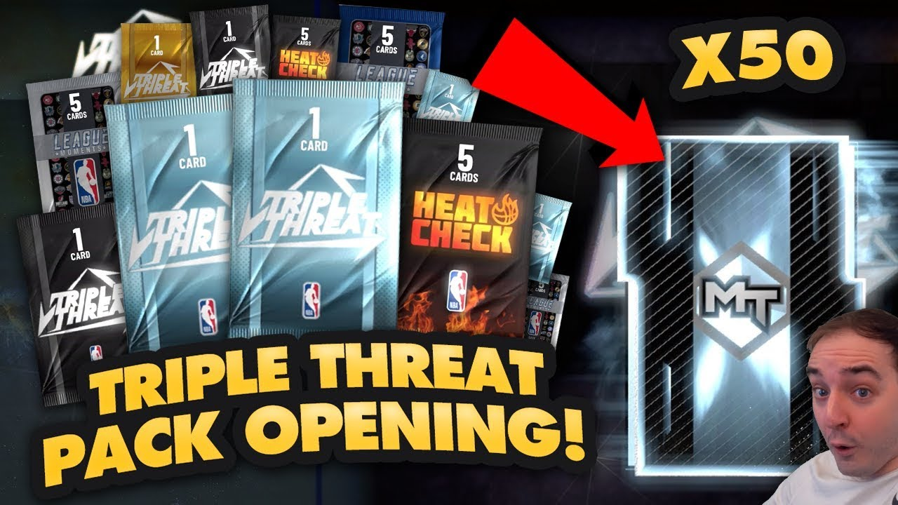 f23aa1cfe NBA 2K19 My Team 50 PACK TRIPLE THREAT OPENING! HOW TO MAKE LOTS OF MT IN  NBA 2K19! - Vloggest