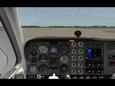 X-Plane10: Beechcraft Baron 58 Cold and Dark Take-Off EDDM