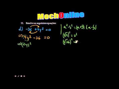 Resolução de Equações 2º Grau com Anulamento do produto 8º e 9º Ano