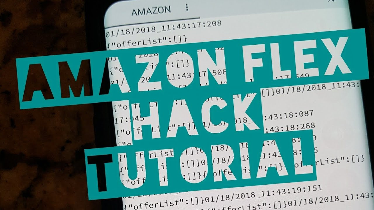 Amazon Flex Hack-Tutorial for New Users