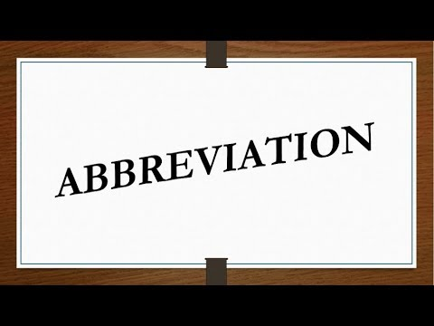 ABBREVIATION Of Most Commonly Used Words In Daily Life