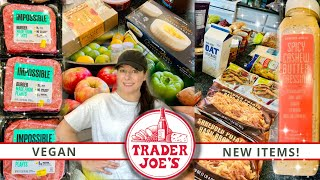 Huge Trader Joe's Haul!! | NEW VEGAN ITEMS! | Prices Shown! | August 2020
