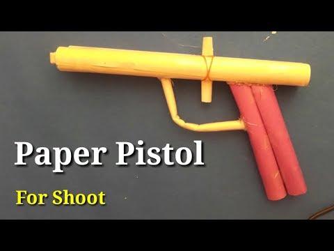 make paper pistol for shoot - origami gun - easy origami