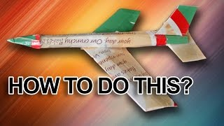 How to make a cardboard jet airplane that flies