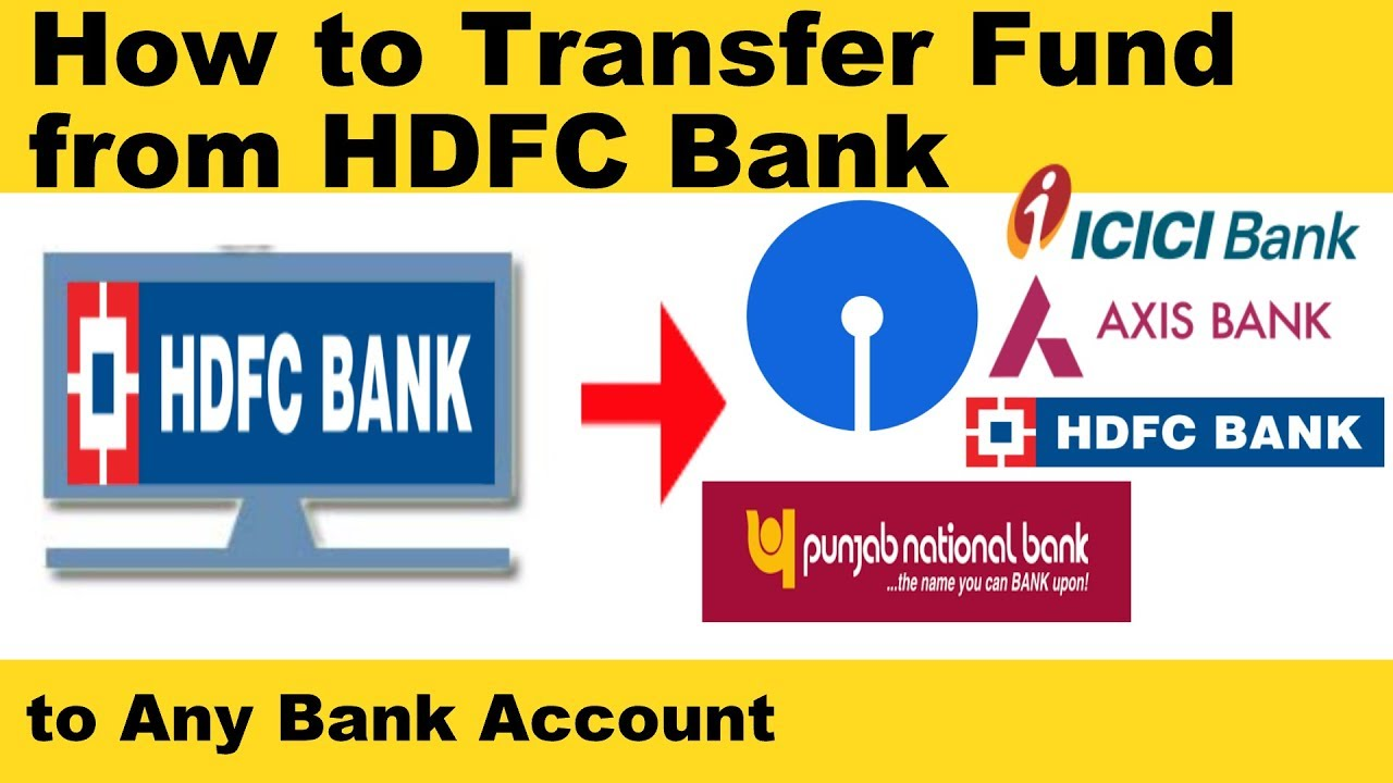 How to Transfer Money From HDFC to Other Bank Accounts Online - YouTube