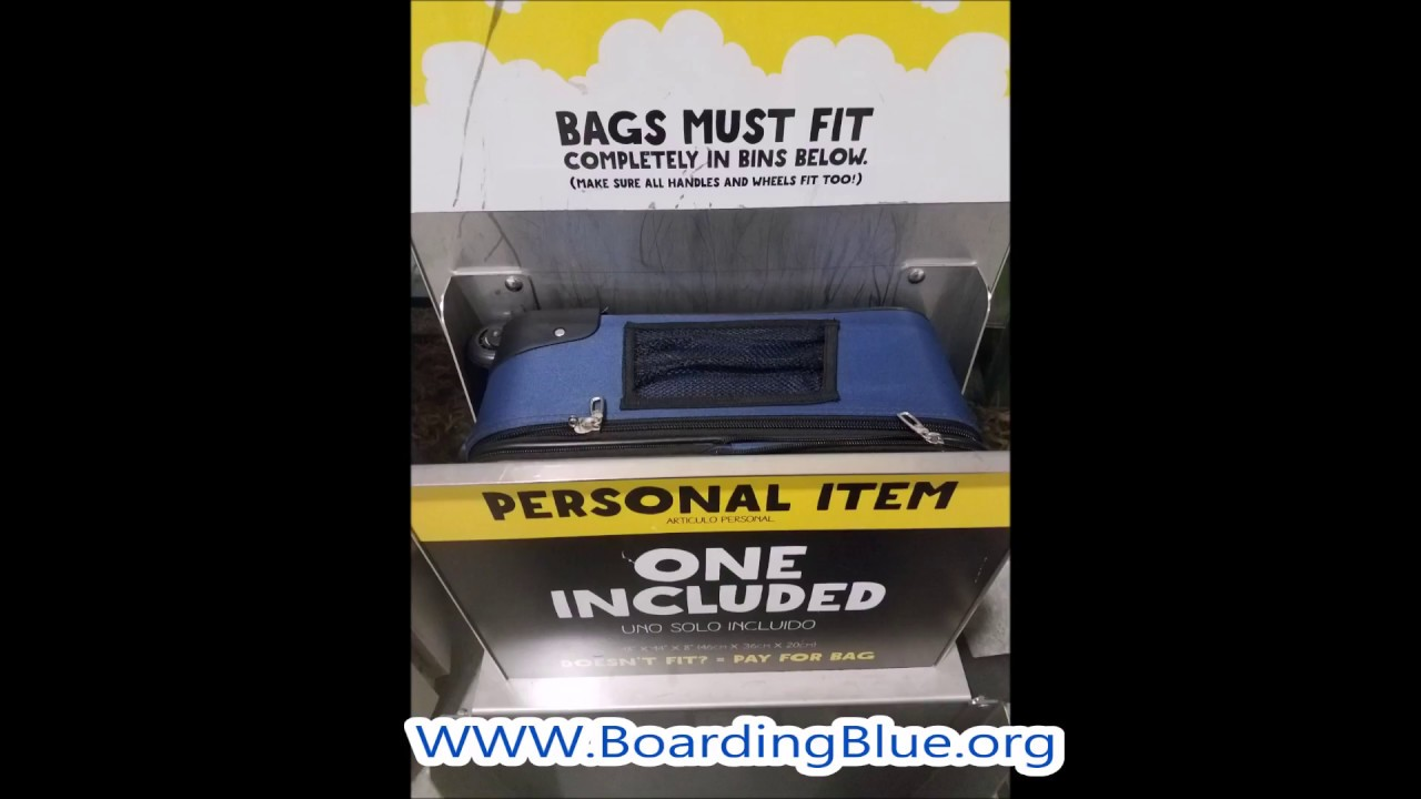 2017 Spirit Airlines Eco Rolling Personal Item Underseat Luggage- BoardingBlue.org cb1ee0425dc99
