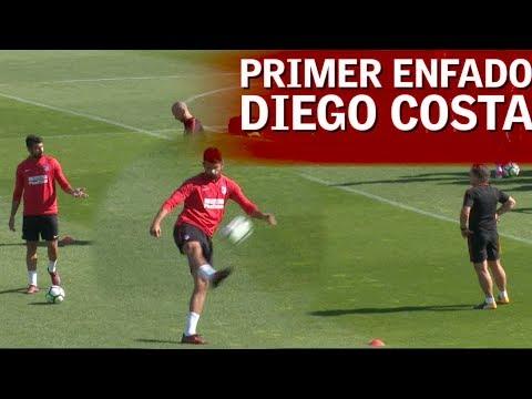 El primer enfado de Diego Costa en el Atleti | Diario AS