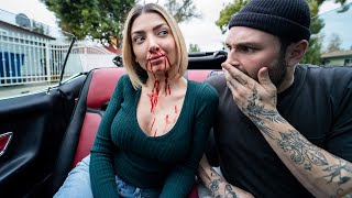 Nose bleed prank on my husband (cute reaction)