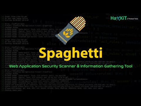 Spaghetti - Web Application Information Gathering & Security Scanner Tool