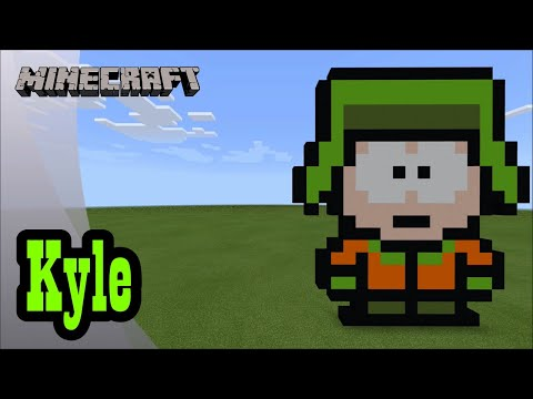 Minecraft Pixel Art Tutorial And Showcase Kyle South Park Youtube