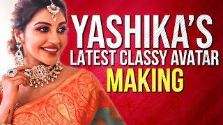 OMG: Yaashika Aanand Super Gorgeous in Saree! Photoshoot Making! Watch till the End!