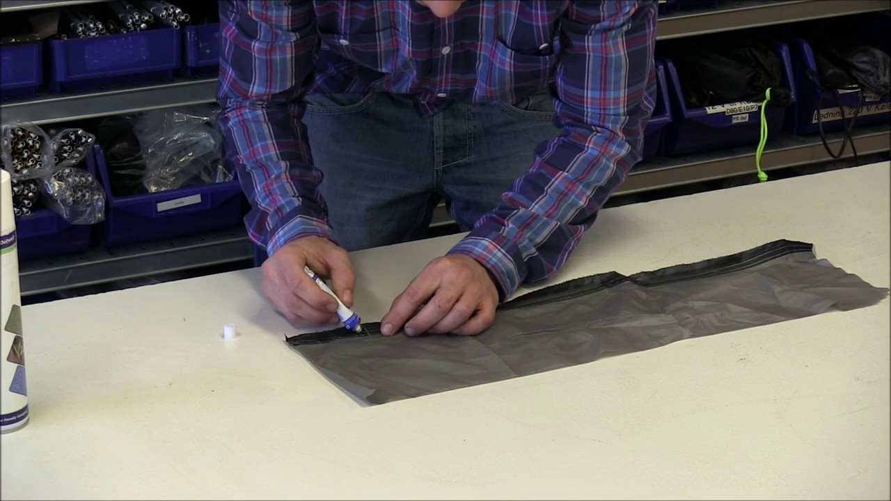 & How To Repair A Tent Seam - YouTube
