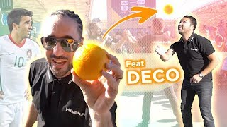 JUGGLE WITH AN 🍊RANGE ! Feat FOOTBALL LEGEND DECO