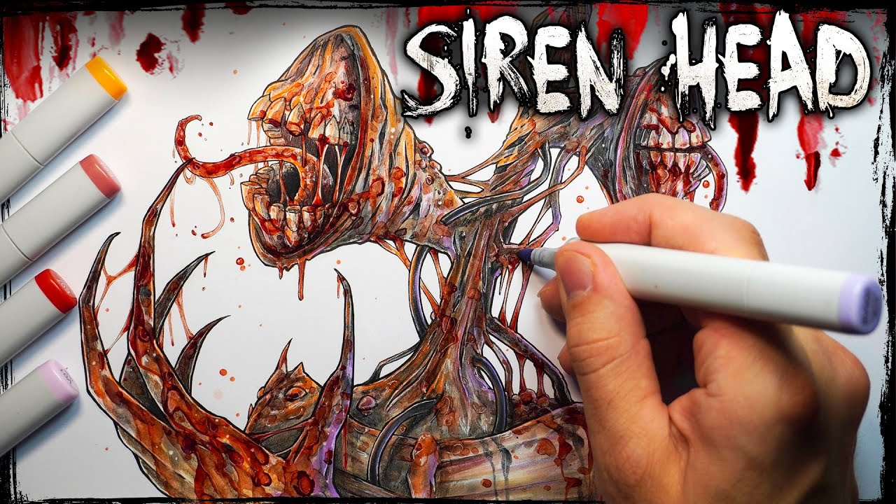 The Mysterious Siren Head Creepypasta Cryptid Story Drawing