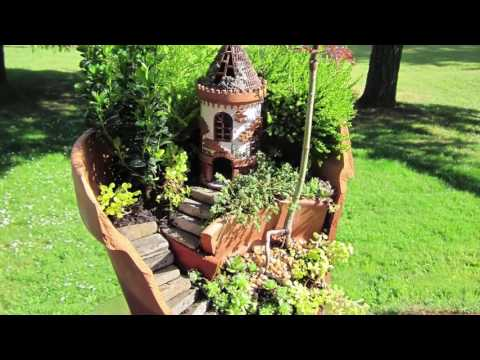 10 Cute natural miniature fairy garden ideas