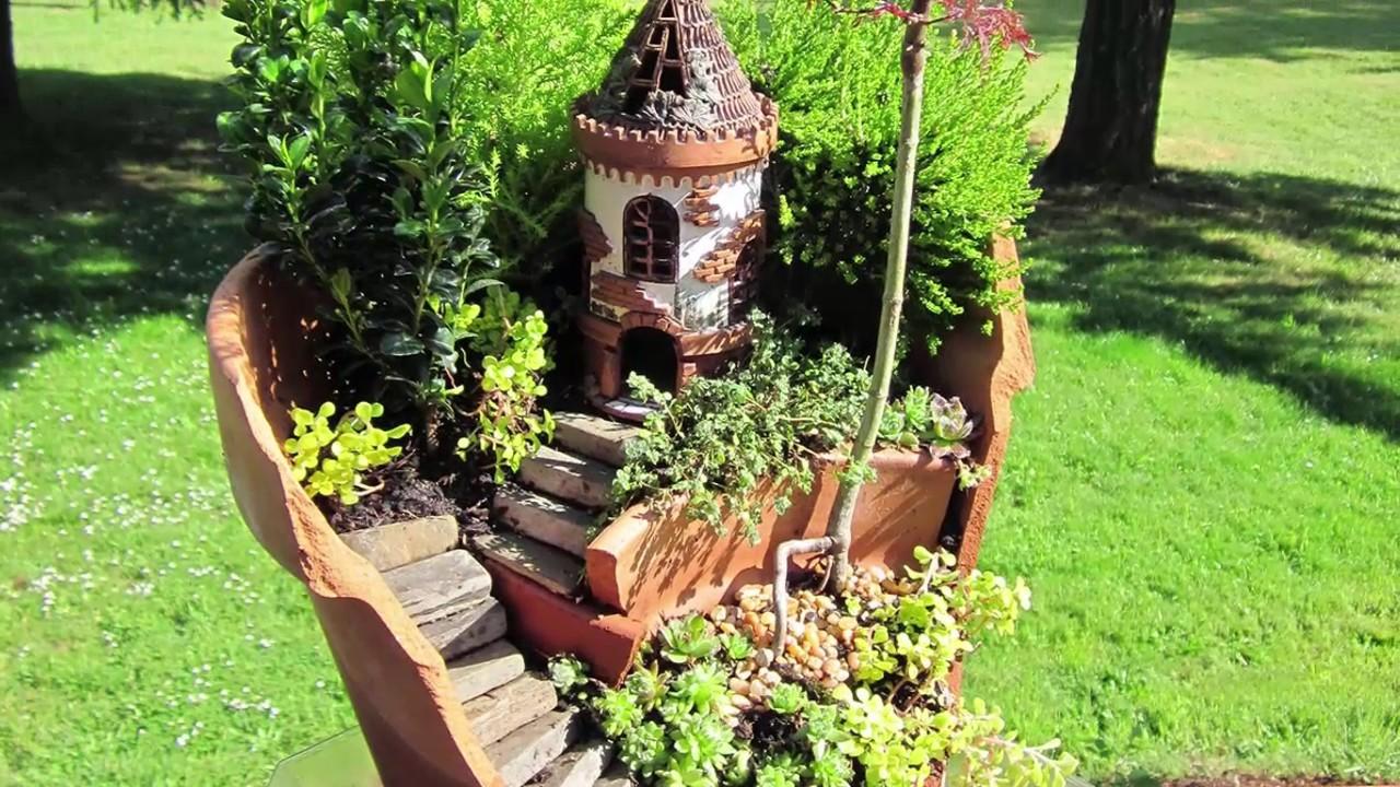 10 Cute natural miniature fairy garden ideas - YouTube