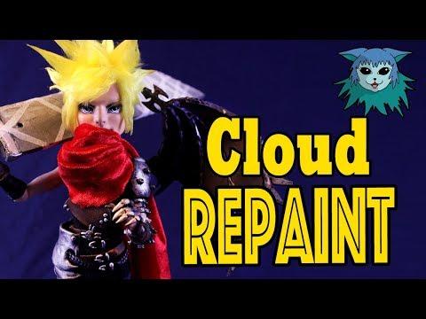 Tutorial: Repaint Cloud Strife Final Fantasy Collab Jackson Jekyll Ooak custom doll