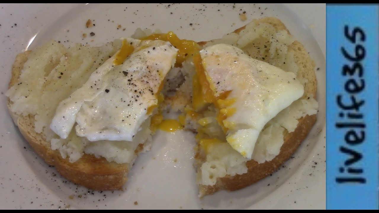 Simple Fried Egg On Potato Toast