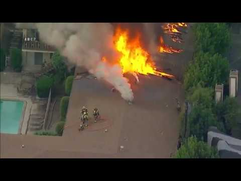 Trench Cut At A Working Apartment Fire Youtube