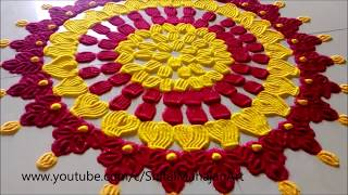 Super Easy and Creative Rangoli Using Fork# Innovative Rangoli by Shital Mahajan.