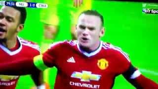 Manchester United Vs CSKA Moscow 1-0         Highlights --- Wayne Rooney. Goal