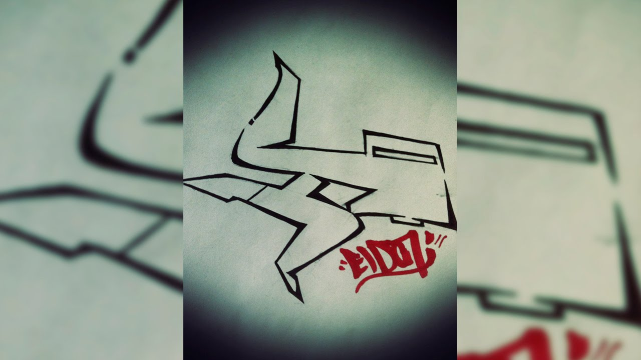 Graffiti Tutorial Draw Letter H In Graffiti Step By Step Youtube