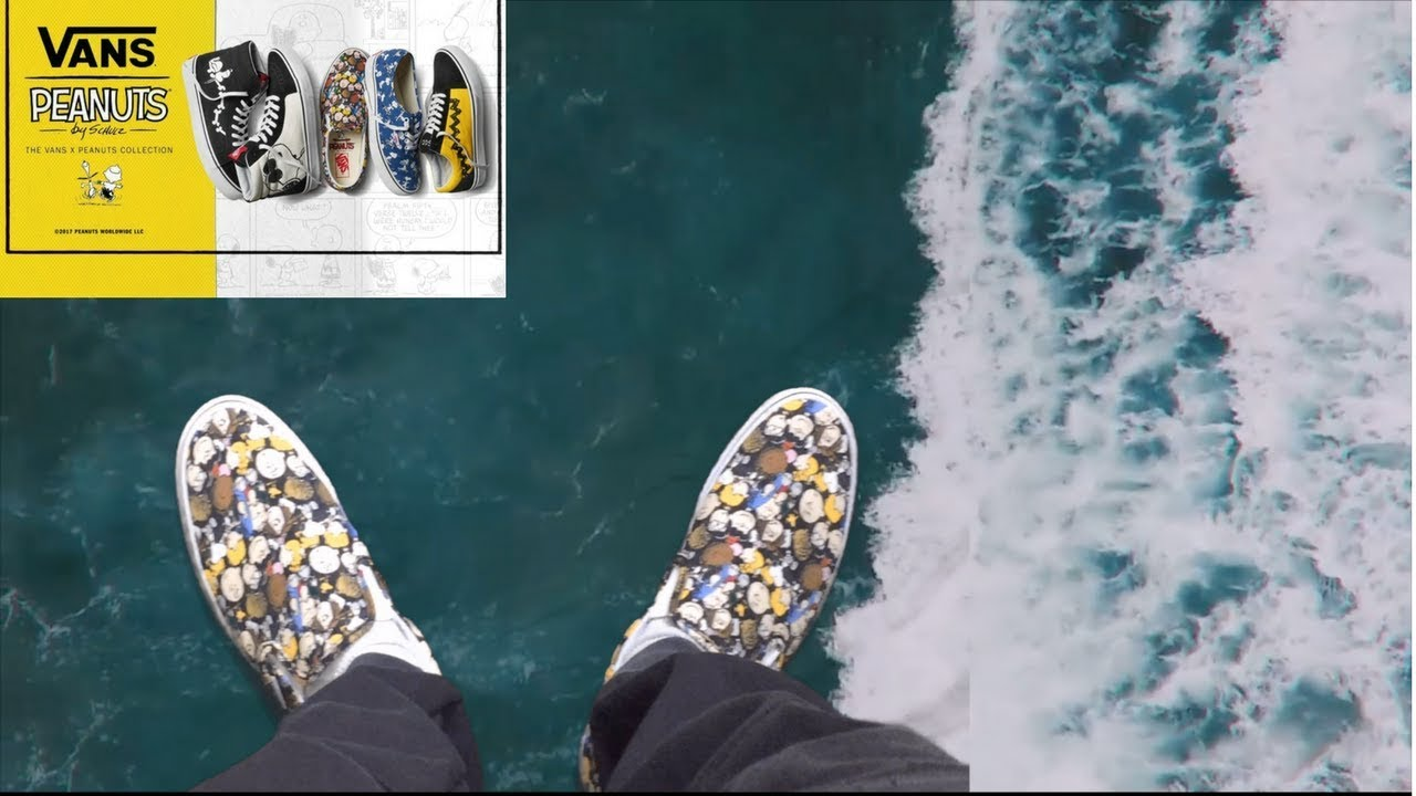3f601a27bb Vans Peanuts Slip On Collection Review + On Feet Detailed Look - YouTube