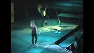 "David lee roth performing ""knucklebones"" on april 22nd, 1988 at the centrum in worcester, massachusetts. roth, steve vai, matt bissonette, gregg bi..."