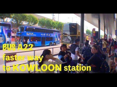 홍콩여행) 구룡 침사추이 공항버스 A22 . fast way to tsim sha tsui, kowloon station. air bus A22