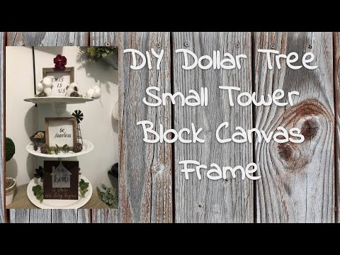 DIY Dollar Tree Small Tower Block Canvas Frame