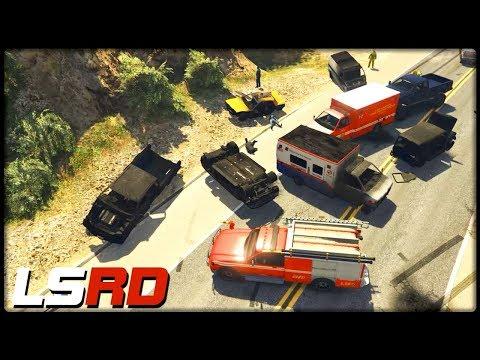 GTA 5 LSRD | Die Massenkarambolage - Deutsch - Grand Theft Auto 5 Los Santos Rescue Division thumbnail
