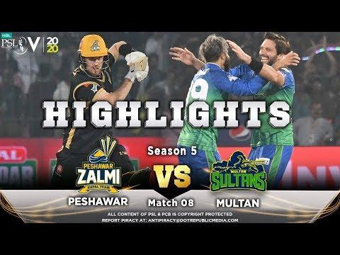 Peshawar Zalmi vs Multan Sultans | Full Match Highlights | Match 8 | 26 Feb | HBL PSL 2020