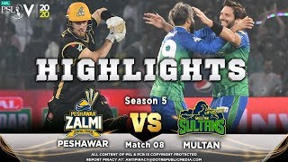 Peshawar Zalmi vs Multan Sultans | Full Match Highlights | Match 8 | 26 Feb | HBL PSL 2020